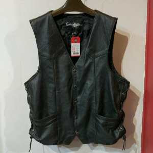 Leather Steel Leather Gambler VEST | 25210