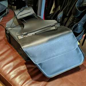WILLIE & MAX Vegan Leather SADDLEBAGS BAGGAGE | 25368