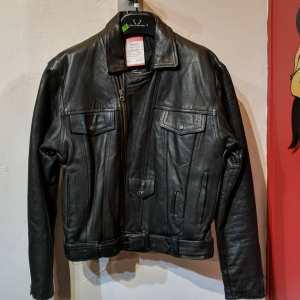 WOLFF Leather Biker Trucker JACKET   25415