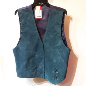 RALPH'S LEATHER Asymmetrical Leather (Suede) VEST | 26466