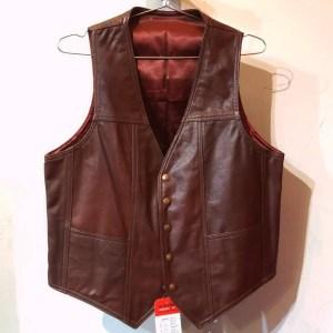 RALPH'S LEATHER Gambler Leather VEST | 26462