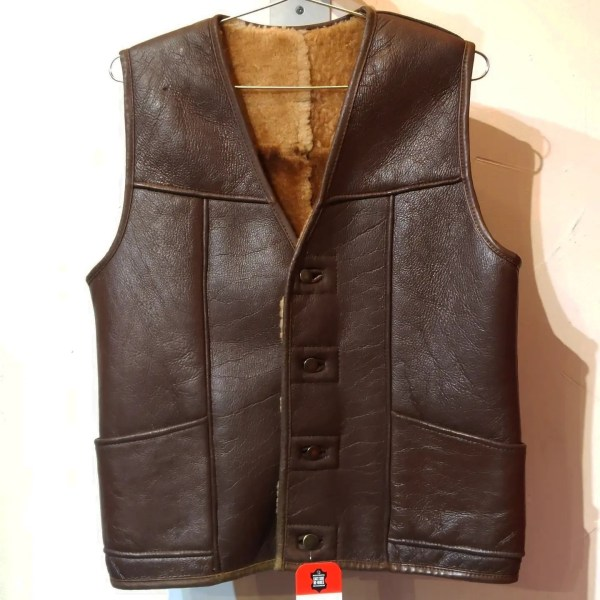 RALPH'S LEATHER Shearling Leather VEST   26463