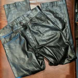 UNBRANDED 5-pocket Leather PANTS   26585