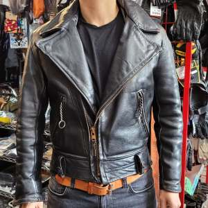 CUSTOM Biker Classic Plus Leather JACKET   27230
