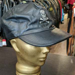 SKULL CROSSBONES Ball Cap Leather HAT   27232