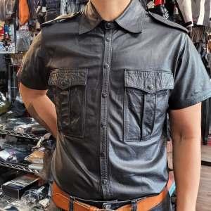Unbranded Short Sleeve Leather SHIRT | 27228