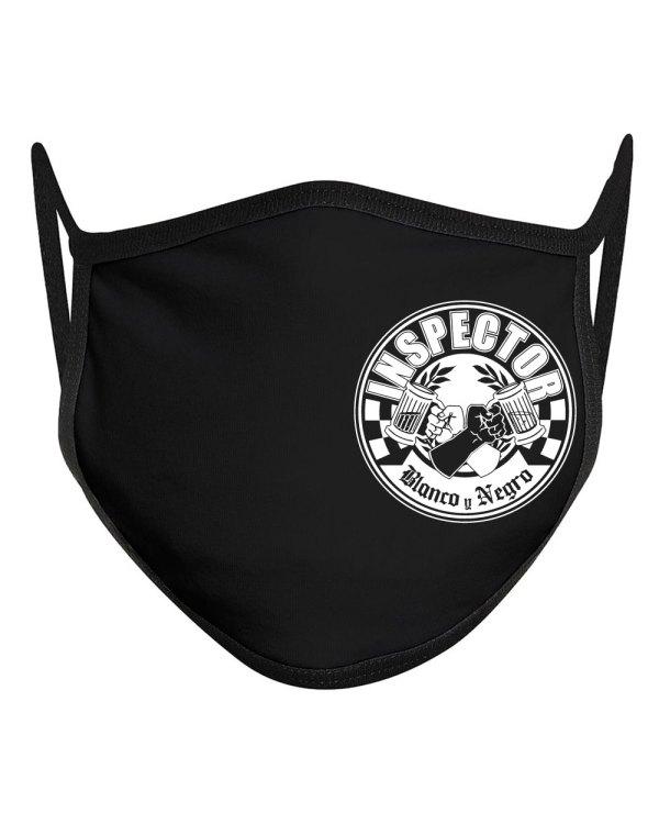 Inspector blanco y negro mask