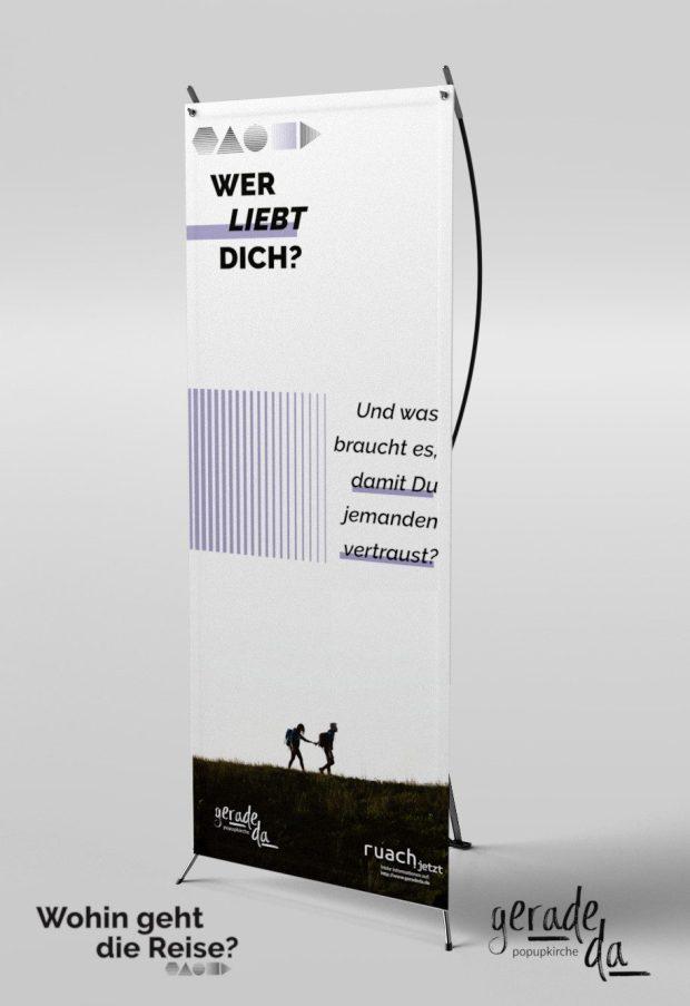 Banner: Wer liebt Dich? (geradeda popupkirche)