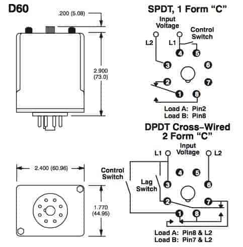 RELAY-ALTERNATING DPDT(CROSS WIRED)120VAC 10A R66-11CA10-120
