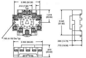 NTE R95114 11 Pin DIN RailOctal Relay Socket | SacElec