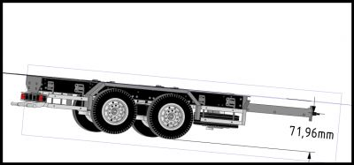 Tandem Axle Trailer Suspension Livestock Trailer