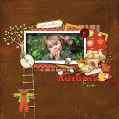 Layout made by Karen using Apple Picking Collection