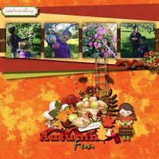 Layout Made by Sandy using Apple Picking Collection