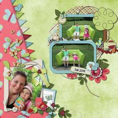 Layout using Picnic Collection by Charly Renay