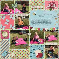 Layout by Rochelle using Picnic Collection By Charly Renay