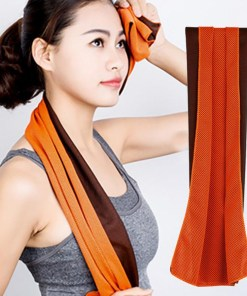 Rapid cooling microfiber sports towel