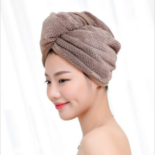 Microfiber quick drying hair towel