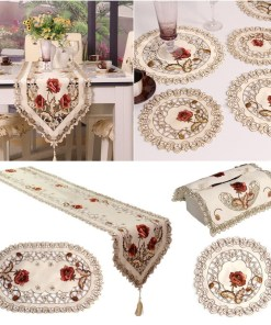 Retro table cloth runner