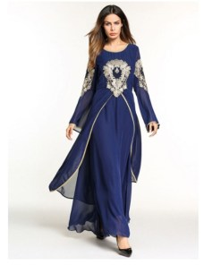 Long sleeves Anarkali A-line dress