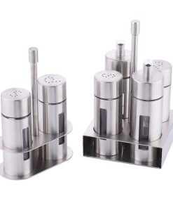 Stainless steel shaker and condiment box