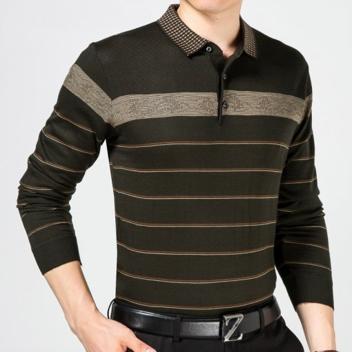 Long sleeve polo t-shirt