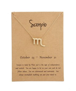Zodiac sign fashion necklaces