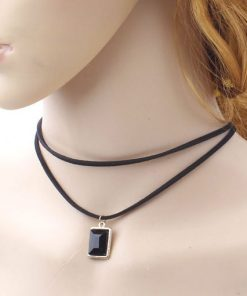 Women black choker necklace
