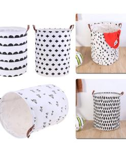 Foldable printed laundry bag