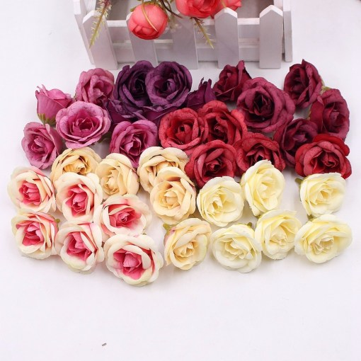 Artificial Silk Rose Flowers