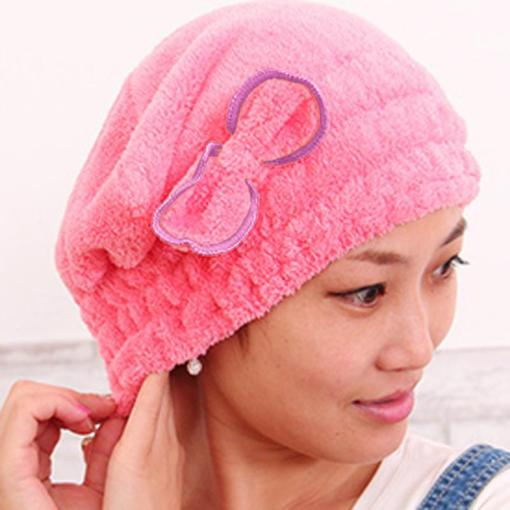 Microfiber hair towel hat