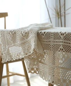 Handmade crochet table cloth