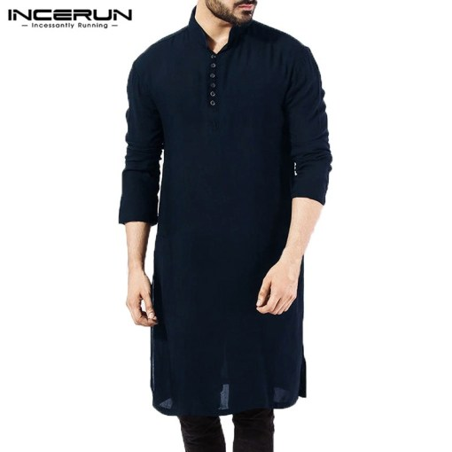 Men long sleeve kurta
