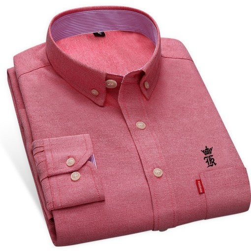 Oxford Men Dress Shirt Long Sleeve