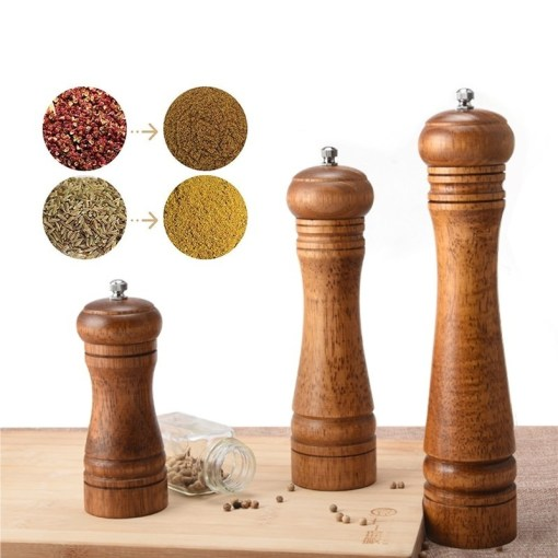 Wooden salt and pepper mill
