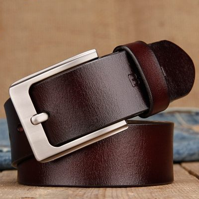 Mens Leather Belt Pin Buckle