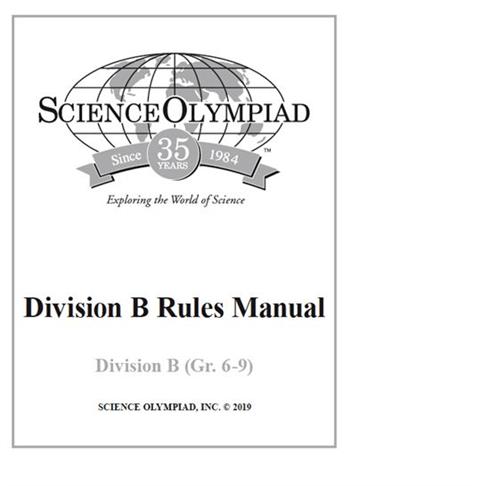 Division B Rules Manual – Division B