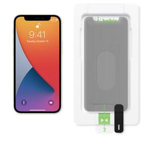 protecteur d ecran ultraglass privacy de belkin pour iphone 12 mini