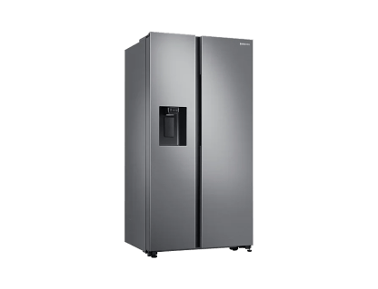 SAMSUNG - RS65R5411M9 New Design, Auto Water & Ice Dispenser, Large Capacity - Space Max Technology (Extra 100L), All-Around Cooling, Power Cool & Freeze, Digital Inverter Compressor with 10 Year Warranty
