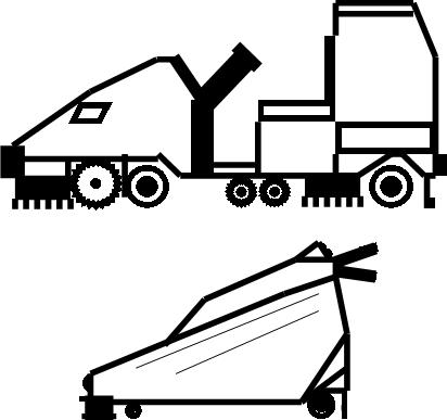 Sweeper, Scrubber Ride-On & Walkie,self-propelled, manual