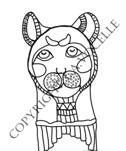 Ancient Egyptian Cats Coloring Book Page, cat mummy at The Great Cat Store
