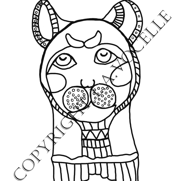 Buy NOW Ancient Egyptian Cats Coloring Book Page, Cat Mummy   The ...