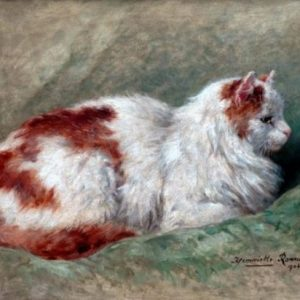 Henriette Ronner-Knip: Cat Sitting on Pillow 1904