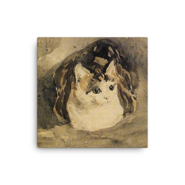 Gwen John: The Cat, 1904-08, Canvas Cat Art Print, 16×16