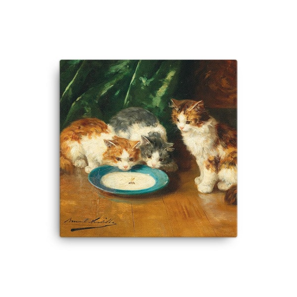 Alfred Brunel de Neuville: What's that then?, Before 1941, Canvas Cat Art Print, 12×12