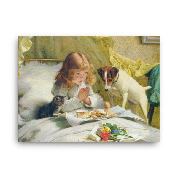 Charles Burton-Barber: Suspense, 1894, Canvas Cat Art Print, 24×36