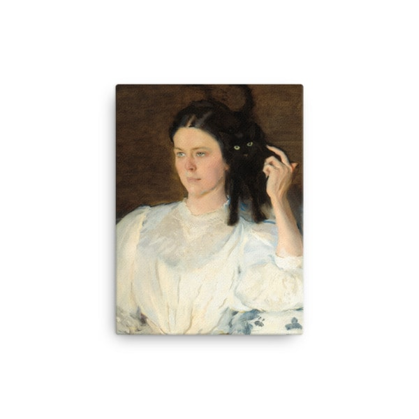 Cecilia Beaux: Sita and Sarita, 1893, canvas print reproduction, 12×16