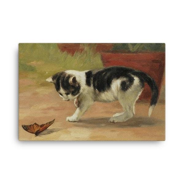 John Henry Dolph: An Easy Target, Before 1903, Canvas Cat Art Print 18×24