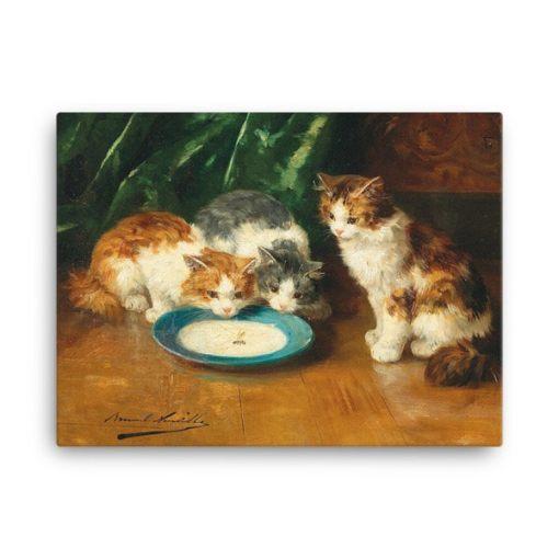 Alfred Brunel de Neuville: What's that then?, Before 1941, Canvas Cat Art Print 24x36