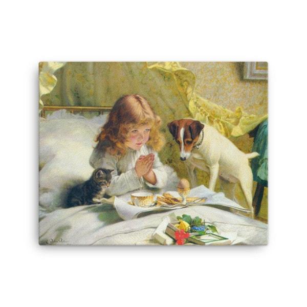 Charles Burton-Barber: Suspense, 1894, Canvas Cat Art Print, 18×24