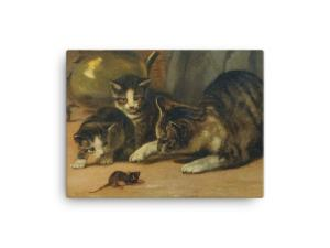 John Henry Dolph: Playing Cat and Mouse, 19th Century, Canvas Cat Art Print